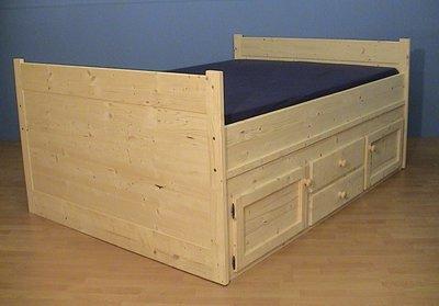 2 bed WOODY met aan 1 kant kastje