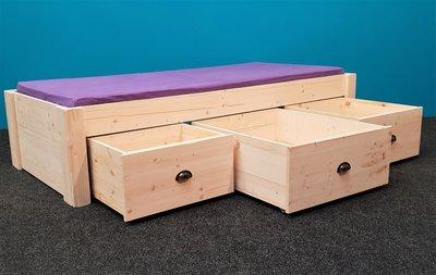 Nieuw! 2 persoonsbed BO met 6 laden houtknop of komgreep