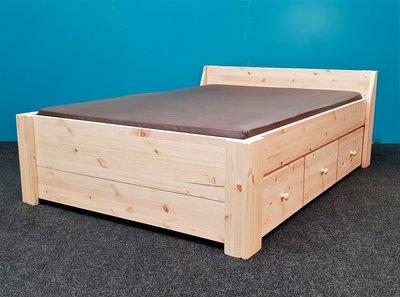 2 p.bed JACQUELINE XXL 2,8cm dik met 3 laden